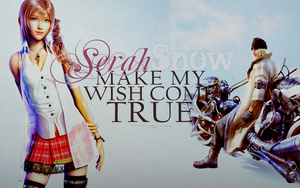 Serah and Snow: Wallpaper 3 by areopoli