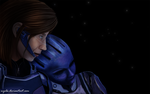 Mass Effect 3 - Eve Shepard and Liara (unfinished) by Nyila