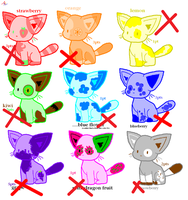 CLOSED!! 1-5 point Neon/fruit kitten adopts by OutTheBoxes