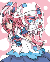 Sylveon Anime Girl by xXKyokoKittycatXx