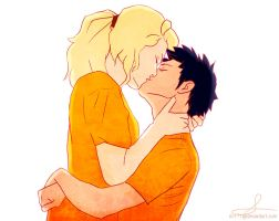 Percy and Annabeth by Rin171