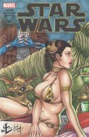 Slave Leia Cover by LVCIFERX