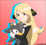Young Cynthia and Mixhog Hypon by LucarioShirona