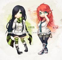 . :* :. Aria and Kaz .:*: . by DigiKat04