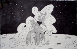 NATG: Day 6 - Mare in the Moon by LittleLooney