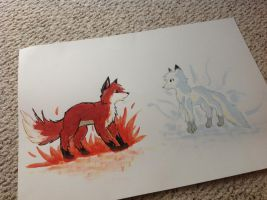 When Fire and Ice Colide by PurpleCookieCat