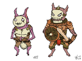 Kobold Comparison and Recolor by Prorogue