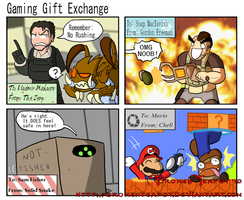 Gaming Gift Exchange by BrokenTeapot