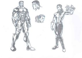Colossus and Kitty 1st Attempt by kameleon84