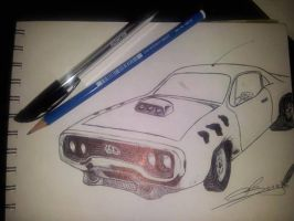 Plymouth Roadrunner...maybe by MadHatterMuscaria