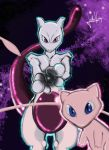 Pokemon Mewtwo and mew  by julesvampire