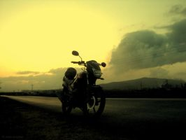 Golden Skies and Epic Rides by aalap