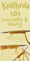 knit tut : Stockinette and Rib by Sphinx-of-Akhenaten