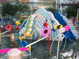 Camp Snoopy spray fountain MOA by JillyFoo