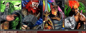 Norse Classic Mythology Sketch Cards by J-Redd