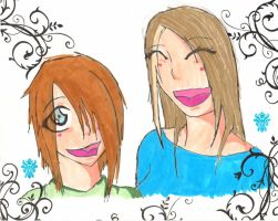 Me and My sister by WAKA-LAKA-KAGE