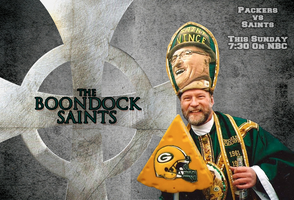 Packers at New Orleans - Week 8 Movie Poster by nickrhea