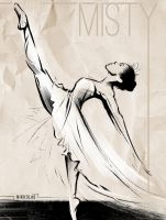 The Incredible Misty Copeland  by Nikkolas by Nikkolas-Smith