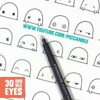 30 Cute / Kawaii Eyes to Doodle ~ Video by PicCandle
