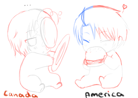 APH baby Canada and America by MrLudwigBeilschmidt