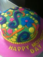 Fun Mothers day/birthday cake by simplysweets