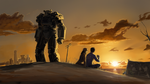 Sun Fall On Wasteland by EnriqueNL