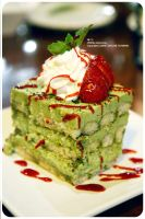 Green Tea Tiramisu by axelicious