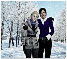 Resident Evil - Sherry and Claire by IrinessaS