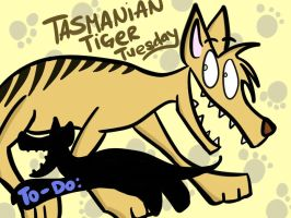 Tasmanian Tiger Tuesday by pickles-4-nickles