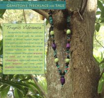 2012: For Sale - Tropic Vibrance Necklace by kickingrabbit