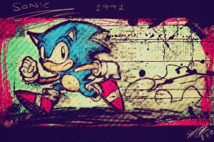 retro sonic by lazyperson202