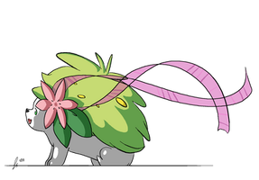 Shaymin with Ribbon by jaclynonacloud