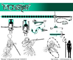 Month of ''Monster'' - Day 29 - Katherin's Weapon by Chaos--Child