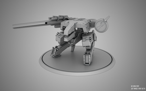Metal Gear REX clay render 2 by keshon83