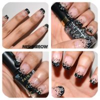 Speckled French Mani by MishMreow