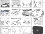 Storyboard Car commercial by OcAmee