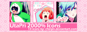 UtaPRi 2000 - 13 icons - by chinjin.deviantart by ChinJin