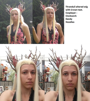 Thranduil altered wig and crown test by Elfsire