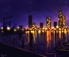 Rip-dock area concept art by NightMargin