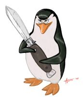 Penguin from madagascar by Astron-Freen