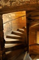 Linlithgow palace stairwell 1 by wildplaces