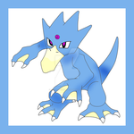 Golduck by Hand-Banana