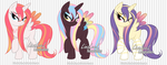 OPEN Alicorn Adoptables by LinaLeeL