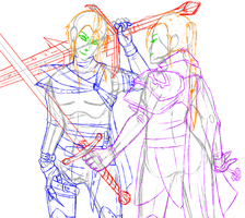 Dungeons and Dragons NPC Fight WIP by JadeOwleh