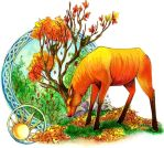 Autumn Stag by bowiegirl