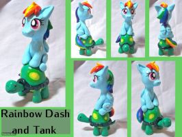 Rainbow Dash and Tank Sculpt by CadmiumCrab