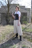 Steampunk Girl with Pistol Stock II by kndrwllmsn