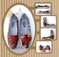 'Steampunk Airpilot' Shoes by JessieQ