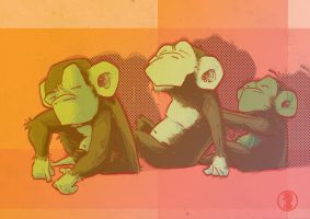 Monkeys by rafael-pires