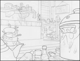 Messy Kitchen by Vangelo-18